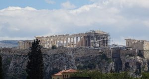 View on the Acropolis and Partheon, Athens (foto auteur)